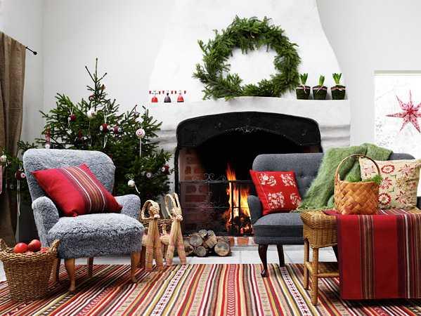 идиальный новогодний рождественский интерьер