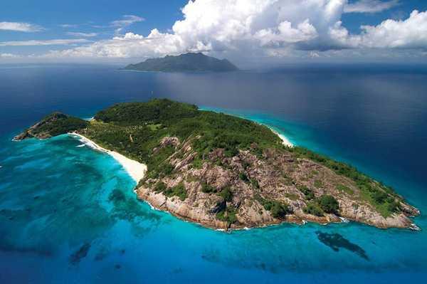 частный остров вид сверху