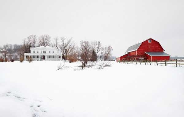 красный и белый дом