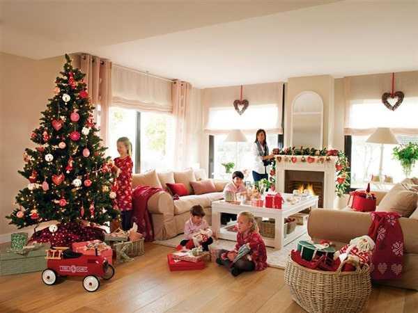 семья на рождество и новый год