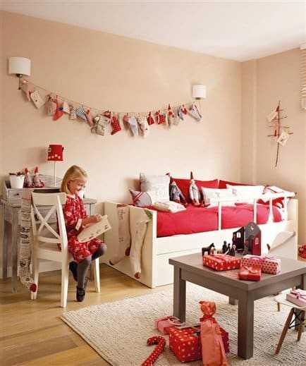 украшенная детская комната