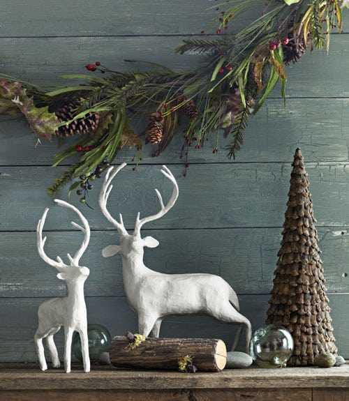 декоративные рождественские олени в интерьере