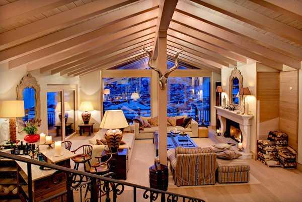 гостиная горного домика
