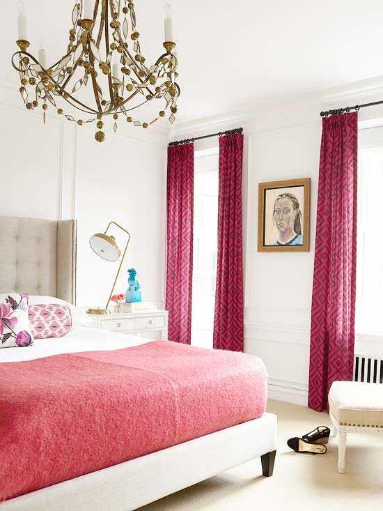 Keuken Rood Verven : slaapkamer-rood-accent