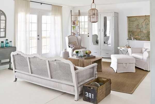 белая гостиная прованс