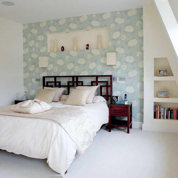 Интерьер стен в спальне фото