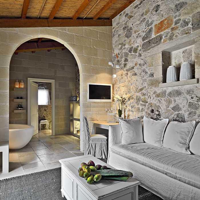 Интерьер для каменного дома