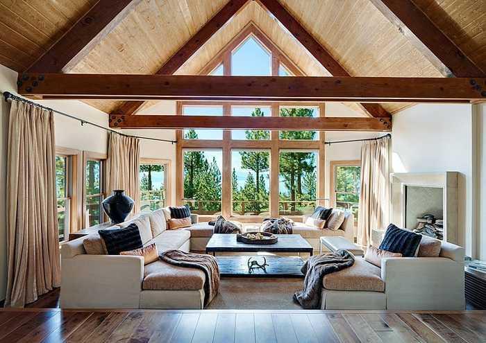 Дом с видом на озеро в США