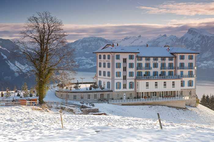 Отель с потрясающими видами на озеро в Швейцарии