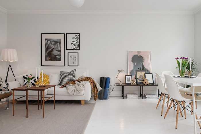 Дизайн квартиры в гетеборге, 59 кв.м