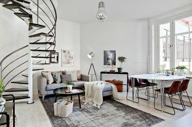 Квартира с винтовой лестницей