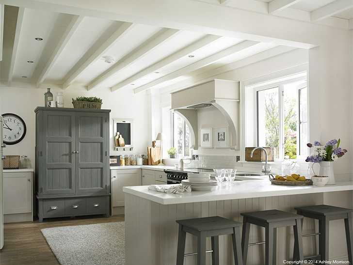 The kitchen in Marie & Alan McMillen's renovated 1960's Belfast home.
