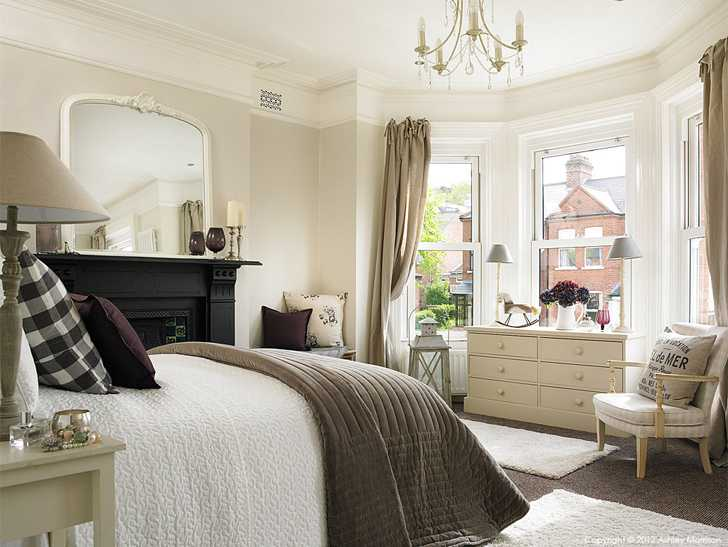 The bedroom in Ciara Nelson's three storey semi-detached villa in Belfast.