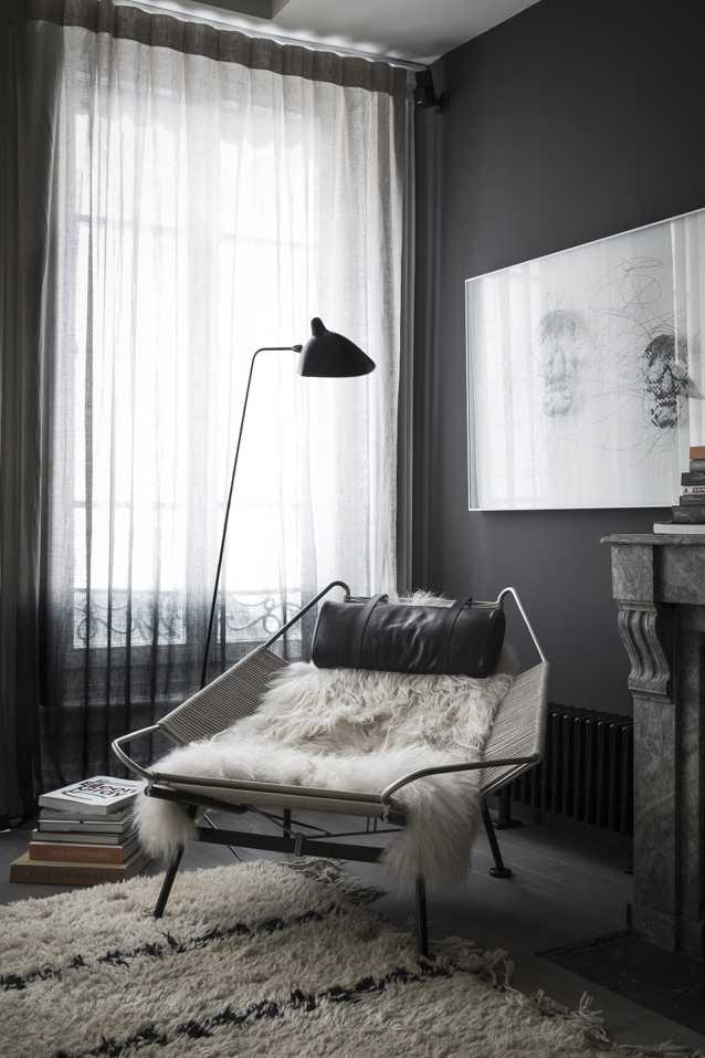 Потрясающие апартаменты в черном в Лионе