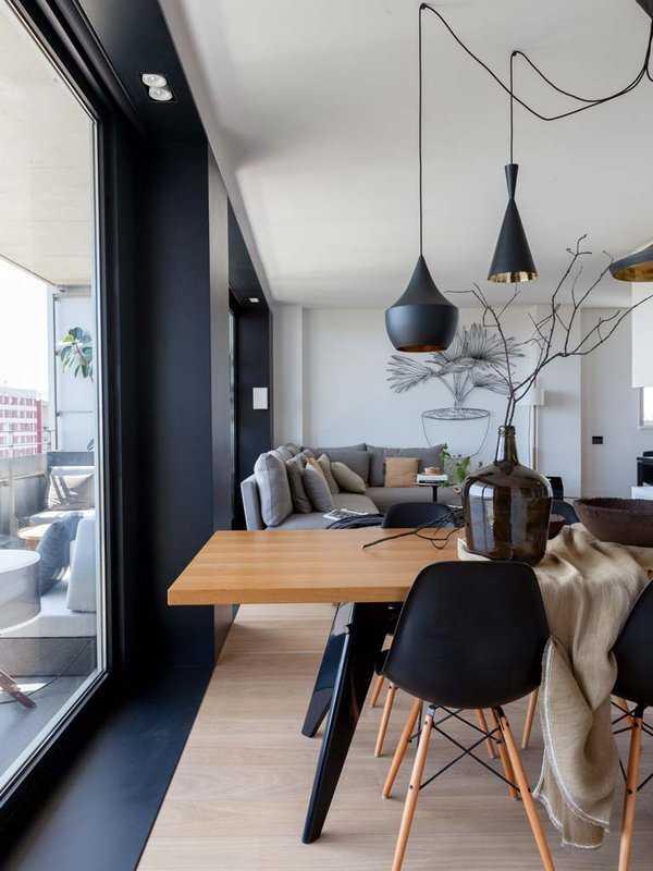 Современный дизайн квартиры в Барселоне