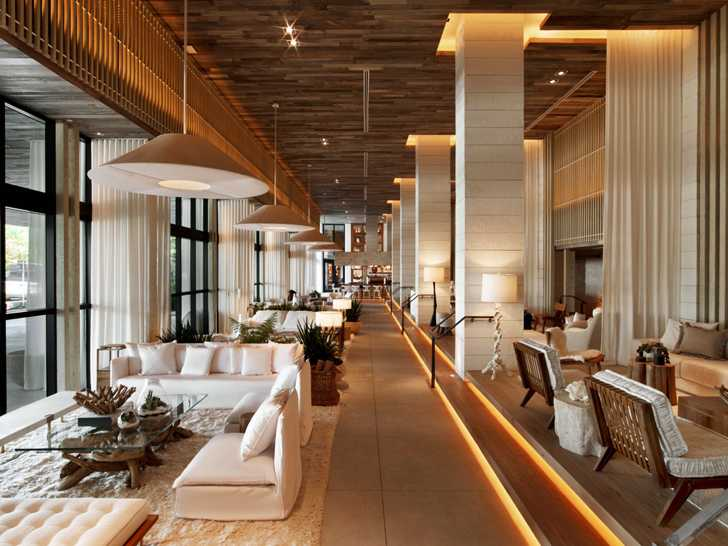 Современный эко-дизайн в отеле 1 Hotel в Майами
