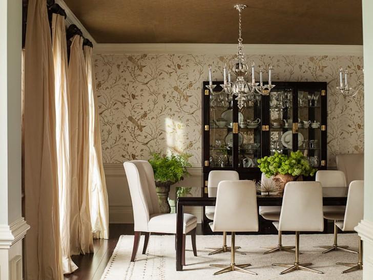 American designer lauren liess interior designs home for Best wallpapers for dining rooms