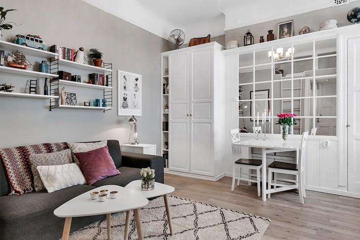 Прекрасные 26 кв. м | Пуфик - блог о дизайне интерьера