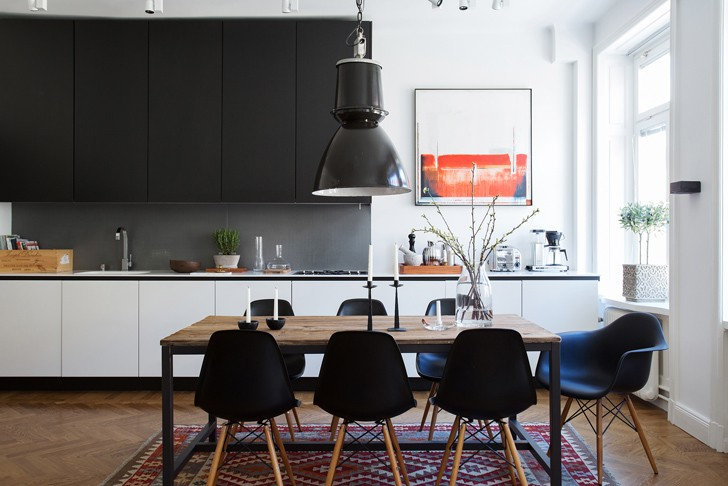 Строгий минимализм для мужчины в Стокгольме (70 кв. м) | Пуфик - блог о дизайне интерьера