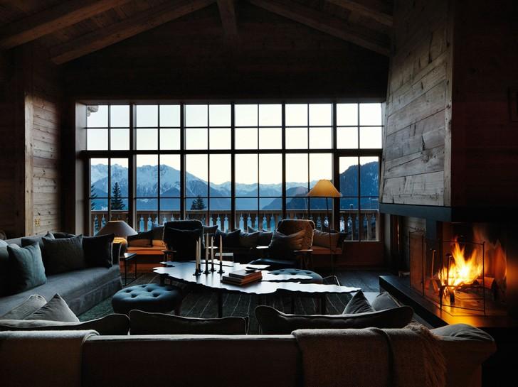 Невероятно уютное шале в Альпах | Пуфик - блог о дизайне интерьера