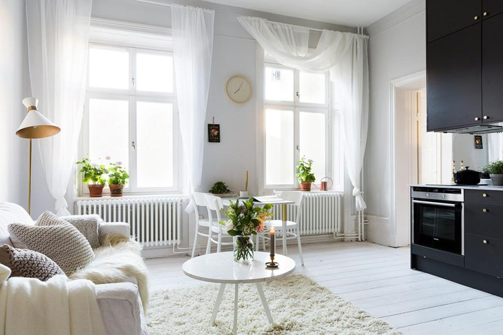 Нежный интерьер квартиры в Стокгольме | Пуфик - блог о дизайне интерьера
