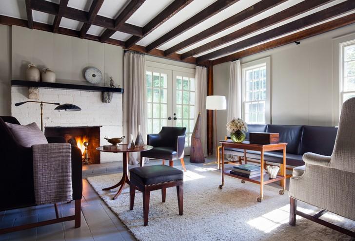 Дом в США с просторным задним двором и прудом | Пуфик - блог о дизайне интерьера
