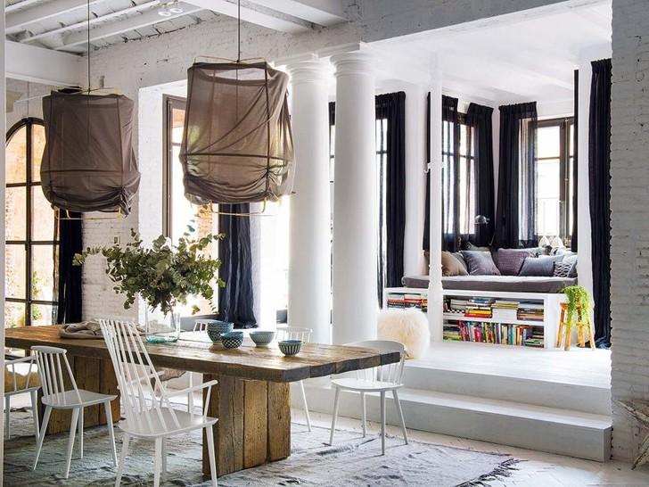 Роскошная квартира в стиле лофт в Барселоне | Пуфик - блог о дизайне интерьера