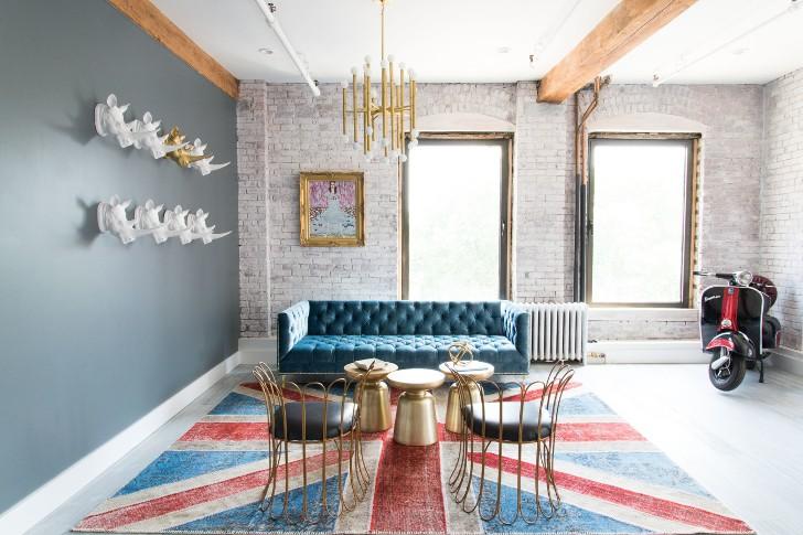 Светлый лофт с мотороллерами в Бруклине | Пуфик - блог о дизайне интерьера