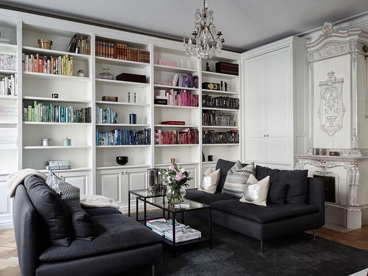 Элегантная черно-белая квартира (94 кв. м) | Пуфик - блог о дизайне интерьера