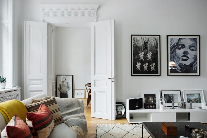 Светлые апартаменты в Стокгольме | Пуфик - блог о дизайне интерьера