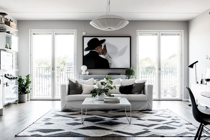 Стильная квартира в спальном районе Стокгольма | Пуфик - блог о дизайне интерьера