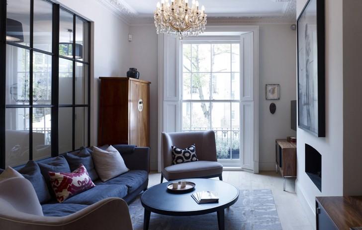 Современный интерьер в Ноттинг-Хилле | Пуфик - блог о дизайне интерьера