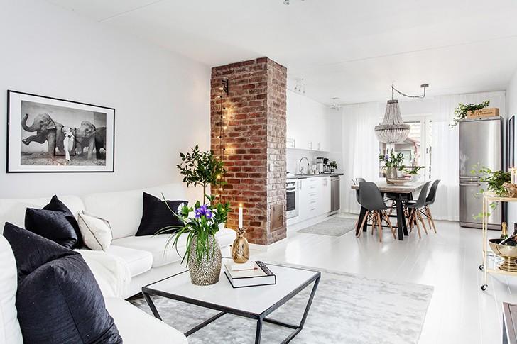 Скандинавский шик в квартире в Гётеборге | Пуфик - блог о дизайне интерьера