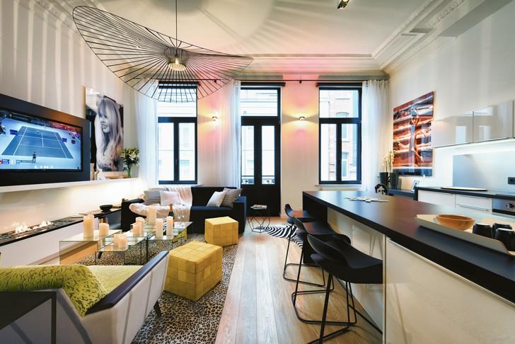 Стильная квартира в Брюсселе (60 кв. м) | Пуфик - блог о дизайне интерьера