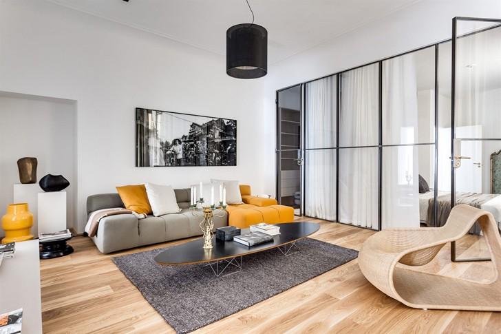 Современная двухкомнатная квартира в Швеции | Пуфик - блог о дизайне интерьера