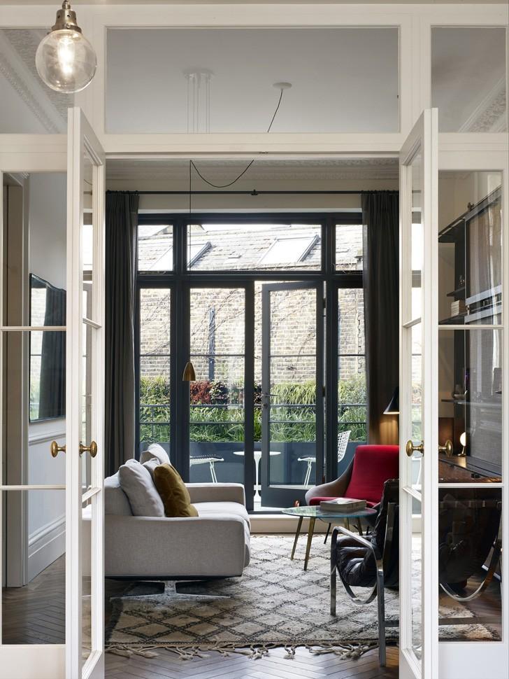 Стильный таунхаус с изысканными интерьерами в Лондоне | Пуфик - блог о дизайне интерьера