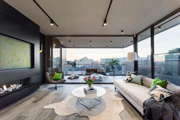 Современный дом с огромными окнами в Австраллии | Пуфик - блог о дизайне интерьера