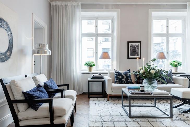 Элегантный скандинавский интерьер (81 кв. м) | Пуфик - блог о дизайне интерьера