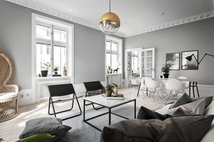 Изысканная Скандинавия на 78 кв. м | Пуфик - блог о дизайне интерьера
