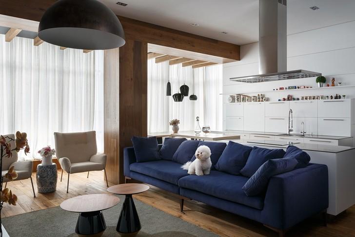 Квартира для семьи художника в Днепре (100 кв. м)