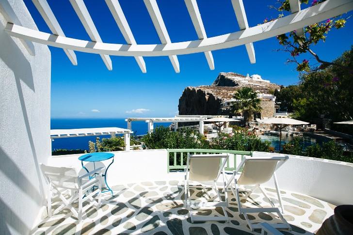 Греческий отель в традиционном кикладском стиле | Пуфик - блог о дизайне интерьера