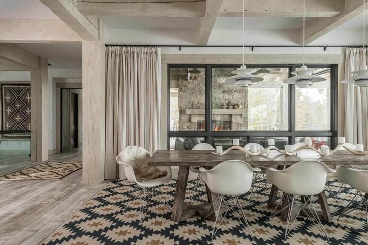 Идеальный горный дом в Монтане | Пуфик - блог о дизайне интерьера