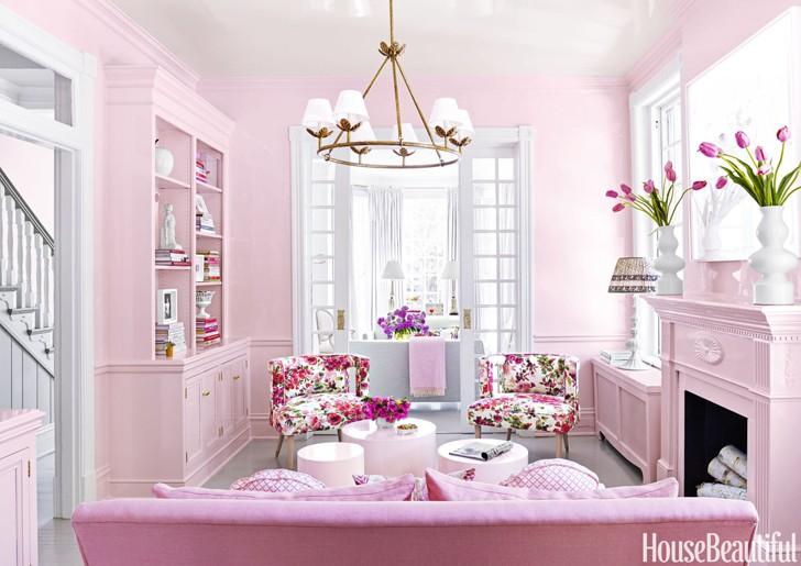 Ярко-розовый интерьер в Америке | Пуфик - блог о дизайне интерьера