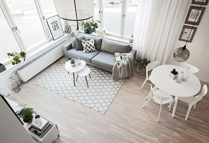 Простой и душевный скандинавский интерьер (54 кв. м) | Пуфик - блог о дизайне интерьера