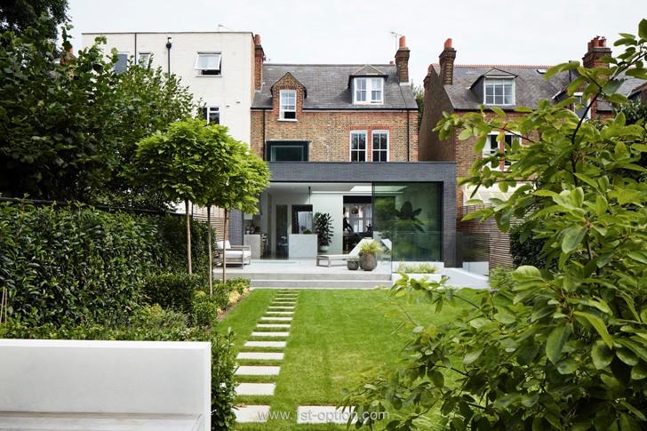 Великолепный дом с внутренним двориком в Лондоне | Пуфик - блог о дизайне интерьера