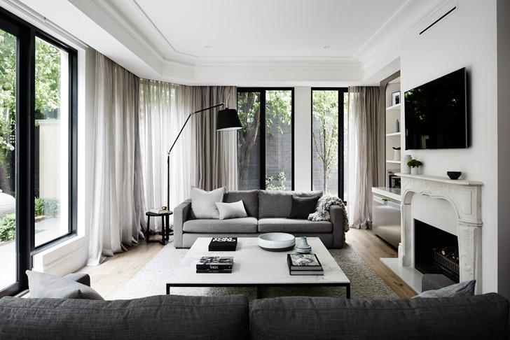 Стильные монохромные апартаменты в Австралии   Пуфик - блог о дизайне интерьера