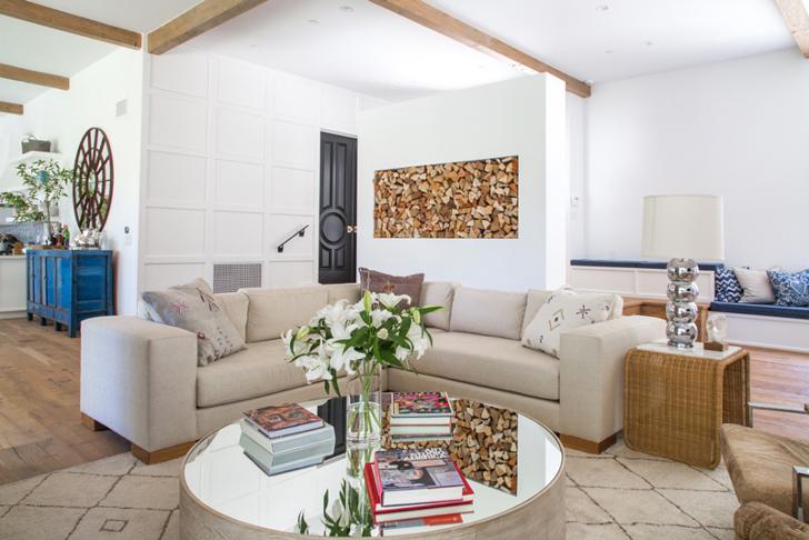 Светлый дом с большими окнами в Лос-Анджелесе | Пуфик - блог о дизайне интерьера