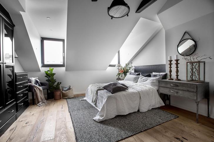 Уютный лофт в Стокгольме (72 кв. м) | Пуфик - блог о дизайне интерьера