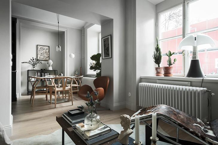 Маленькая шведская квартира (30 кв. м) | Пуфик - блог о дизайне интерьера
