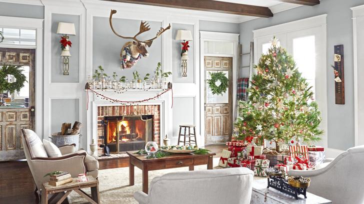 Рождество в загородном доме в США | Пуфик - блог о дизайне интерьера